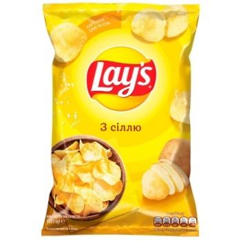 Чипсы картофельные Lay's со вкусом соли 133г - купить, цены на МегаМаркет - фото 1
