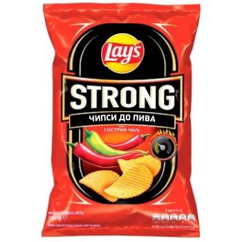 Чіпси картопляні Lay's Strong зі смаком чилі і лайма 120г - купити, ціни на МегаМаркет - фото 1
