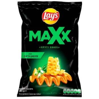 Lays Maxx Wavy Chips with Cheese and Onion Flavor 120g