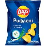 Чипсы картофельные Lay's со вкусом сметаны и лука рифленые 71г