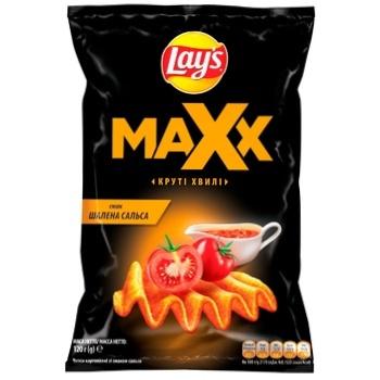 Lay's Maxx Salsa Flavored Wavy Potato Chips 120g - buy, prices for CityMarket - photo 1