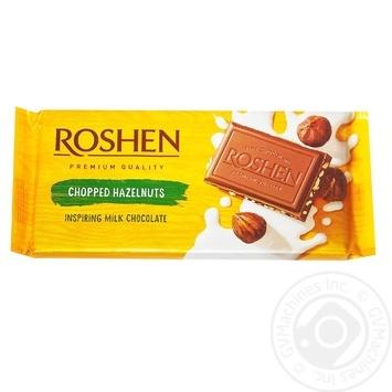 Шоколад Roshen Classic молочний з подрібненими лісовими горіхами 90г - купити, ціни на Novus - фото 2