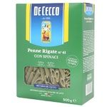 De Cecco Pasta Penne with Spinach 500g