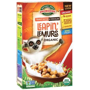 Сухий сніданок Envirokidz Стрибок Лемура без глютену 284г - купити, ціни на CітіМаркет - фото 1