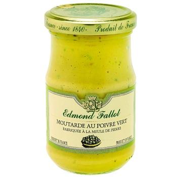 Гірчиця Edmond Fallot Діжонська з зеленим перцем 210г