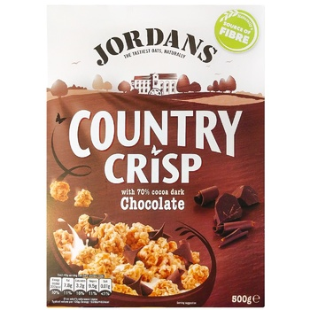 Crunches Jordans with chocolate 500g cardboard packaging - buy, prices for CityMarket - photo 1