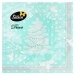 Салфетки Silken Новогодние Мятная елка трехслойные бумажные 33x33см 18шт