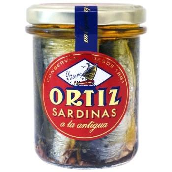 Сардини Conservas Ortiz в олив.олії з/б 190г - купить, цены на СитиМаркет - фото 1
