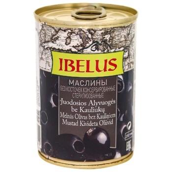 Оливки Ibelus чорні б/к з/б 280г - купити, ціни на CітіМаркет - фото 1