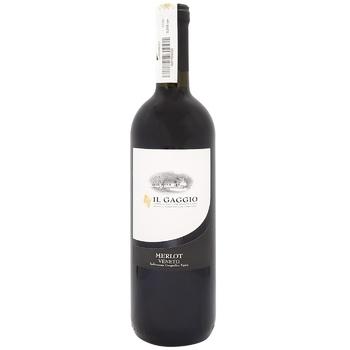 Вино Il Gaggio Merlo красное сухое 11% 0,75л