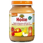 Puree Holle with apple from 6 months 190g glass jar