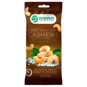 Кеш'ю Winway смажений солоний 60г - купити, ціни на CітіМаркет - фото 1