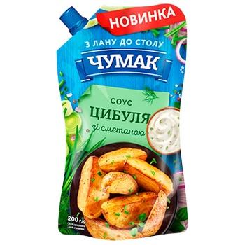 Соус Чумак лук со сметаной 200г - купить, цены на Ашан - фото 1