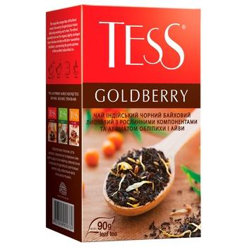 Чай чорний Tess Goldberry 90г - купити, ціни на Ашан - фото 2