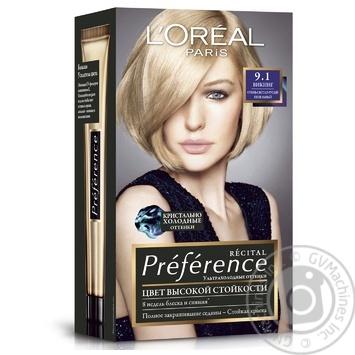 Краска для волос L'Oreal Recital Preference 10.21 Стокгольм светло-светло-русый перламутровый осветляющий - купить, цены на Novus - фото 4