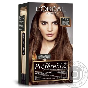 Краска для волос L'Oreal Recital Preference 5.25 Антигуа каштановый перламутровый - купить, цены на Novus - фото 1