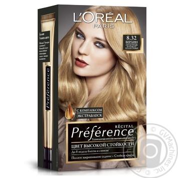 Краска для волос L'Oreal Recital Preference 8.32 Берлин светло-русый золотисто-перламутровый
