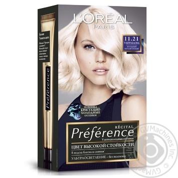 L'Oreal Recital Preference 11.21 Hair dye Ultrablonde - buy, prices for Novus - image 1