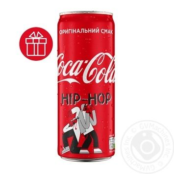 Coca-Cola Strongly Carbonated Drink Can 0,33l - buy, prices for MegaMarket - image 1
