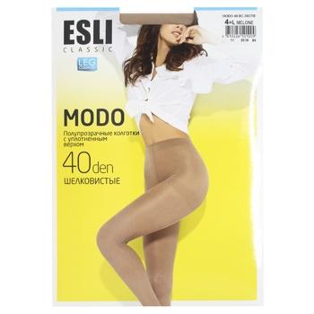 Колготки Esli жіночі E Modo 40den New р.4 Melone - купити, ціни на CітіМаркет - фото 1
