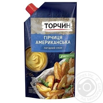 Torchin American mustard Gentle taste 130g - buy, prices for Novus - image 1