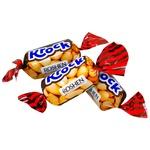 Цукерки Roshen Krock з арахісовою пастою