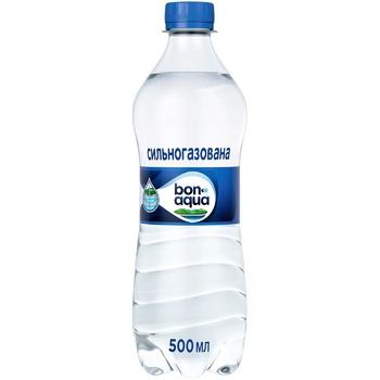 Вода Bonaqua природна питна сильногазована 500мл - купити, ціни на CітіМаркет - фото 1