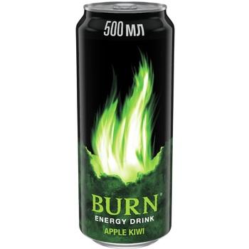 Напиток Burn Яблоко и Киви энергетический безалкогольный сильногазированный 500мл жестяная банка - купить, цены на СитиМаркет - фото 1