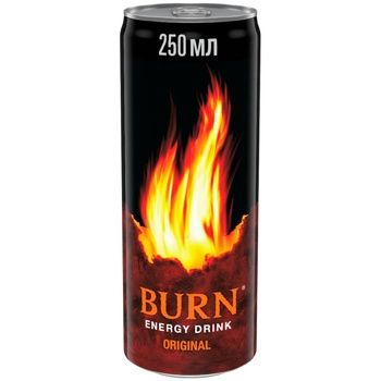 Burn Classic Non-Alcoholic Strong Carbonated Energy Drink Can 250ml - buy, prices for Furshet - image 1