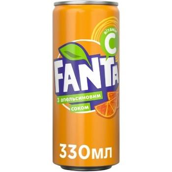 Напій газований Fanta Апельсин сокомісткий 0,33л - купити, ціни на CітіМаркет - фото 1