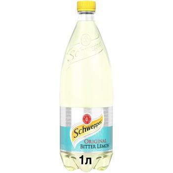 Напій Schweppes Bitter Lemon безалкогольний сильногазований 1л