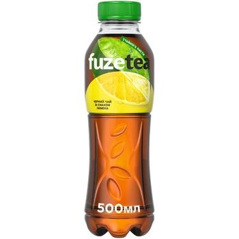 Напій Fuzetea Чай чорний зі смаком лимона безалкогольний негазований 500мл - купити, ціни на Восторг - фото 1