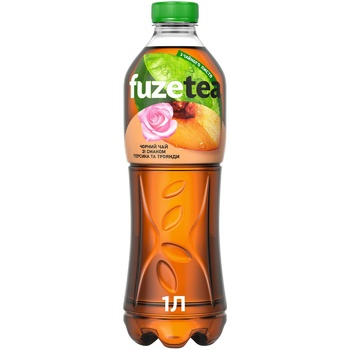 Fuzetea Black Tea With Peach And Rose Taste Non-Alcoholic Strong Carbonated Drink 1l - buy, prices for Auchan - photo 1