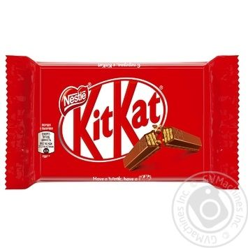 NESTLÉ® KITKAT® 4-FINGER milk chocolate bar with wafer 41,5g - buy, prices for Auchan - image 1