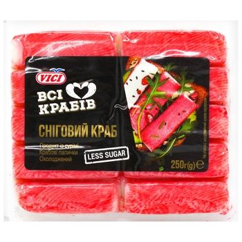 Крабовые палочки Vici Снежный краб охлажденные 250г - купить, цены на МегаМаркет - фото 2