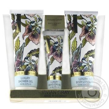Набір Vivian Gray Wild Flowers Крем для рук 30мл & Лосьйон для тіла 100мл & Гель для душа 100мл - купити, ціни на МегаМаркет - фото 1