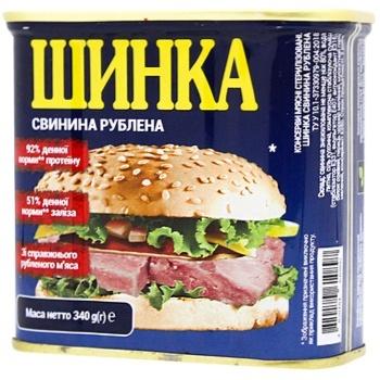 Ветчина Power Banka свиная рубленая 340г - купить, цены на СитиМаркет - фото 1