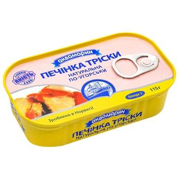 Печень трески по-венгерски Аквамарин 115г