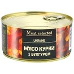 Консервированное мясо курицы Meat Selected с булгуром 325г