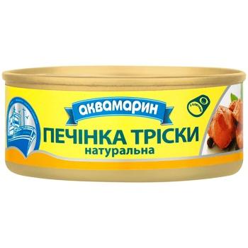 Печень трески Аквамарин Натуральная 100г - купить, цены на Ашан - фото 1