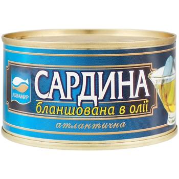 Сардины Аквамир натуральные с добавлением масла 240г