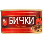 Консерва рыбная Аквамир бички обжаренные в томатном соусе 230г