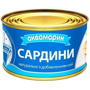 Сардина Аквамарин натуральна з додаванням олії  230г - купити, ціни на Фуршет - фото 5