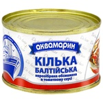 Килька Аквамарин Балтийская обжаренная в томатном соусе 230г