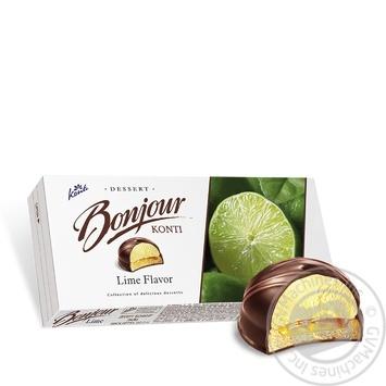 Десерт Konti Bonjour Лайм 232г - купить, цены на СитиМаркет - фото 3
