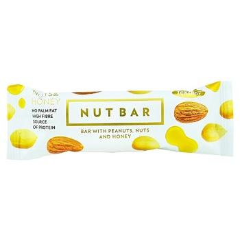 Батончик Tekmar Nutbar с арахисом орехами и медом 35г
