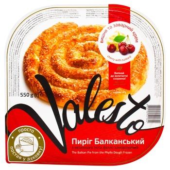 Пирог Valesto Балканский из вытяжного теста филло с начинкой вишня 550г
