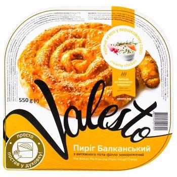 Пиріг Valesto Балканський з куркою 550г - купити, ціни на Ашан - фото 1