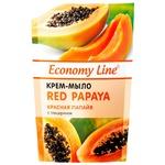 Economy Line Cream-soap Red papaya with glycerin 460g
