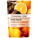 Economy line Chocolate and orange cream-soap with glycerin 460g